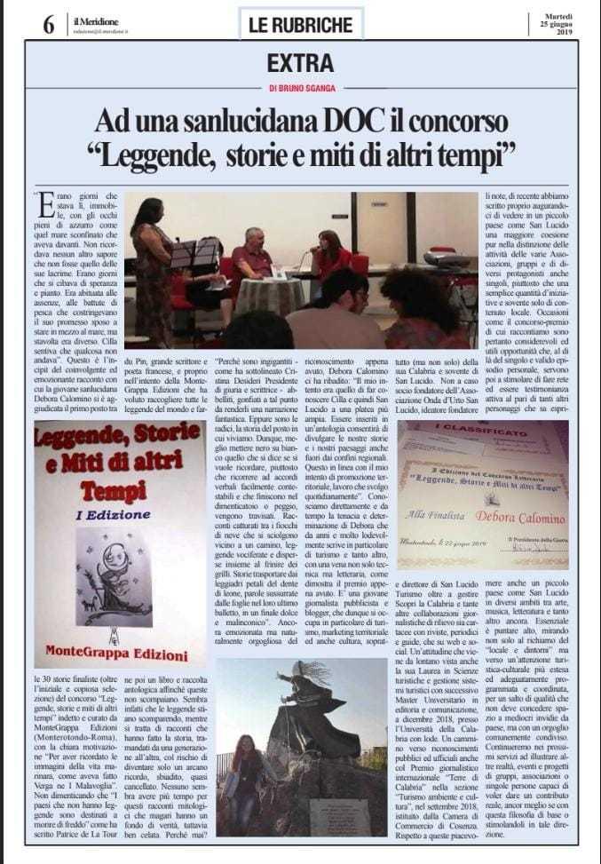"""Premio Letterario """"Leggende, storie e miti d'altri tempi"""" Monterotondo (RM)"""
