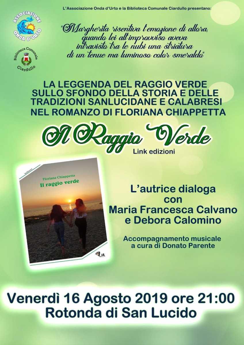 """Presentazione """"Il Raggio Verde"""" a San Lucido (CS)"""