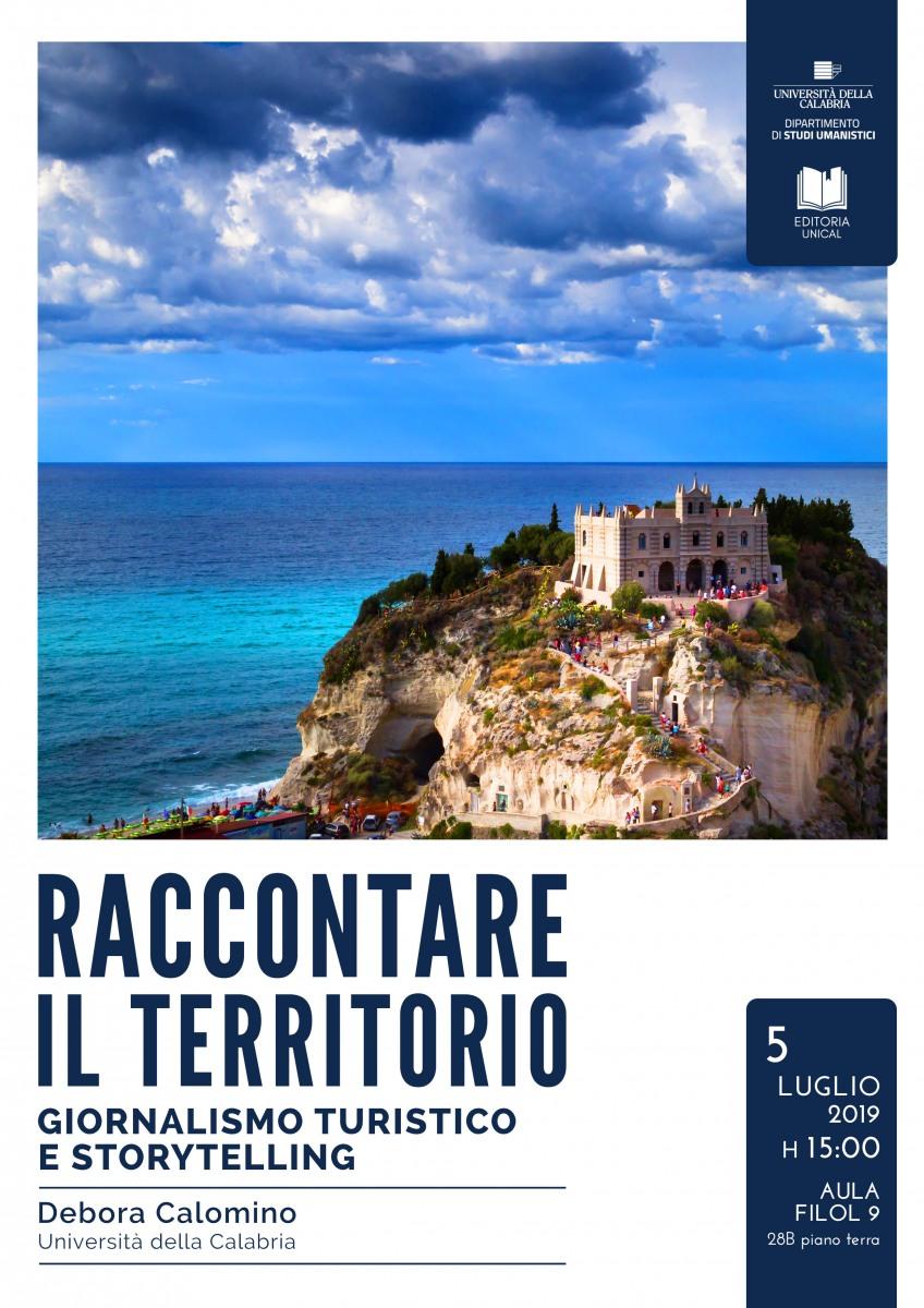 """Seminario """"Giornalismo turistico e storytelling"""" Università della Calabria"""